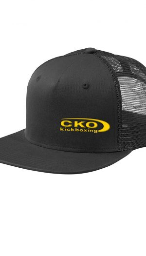 black cap with custom embroidery cko kickboxing for sale trucker cap